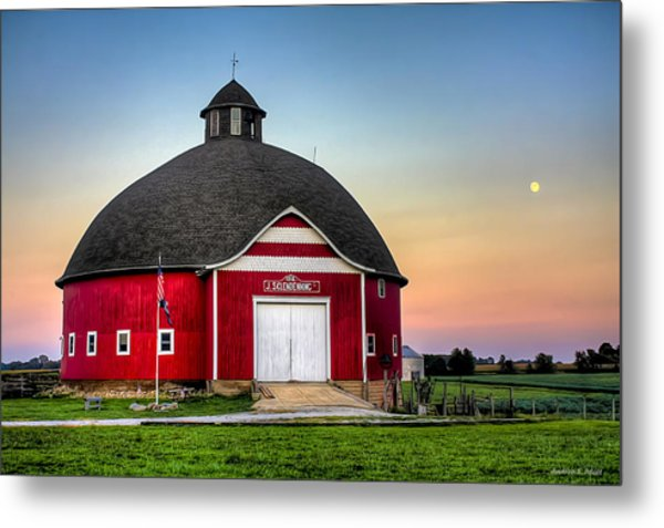 Moon Over Mulberry Metal Print
