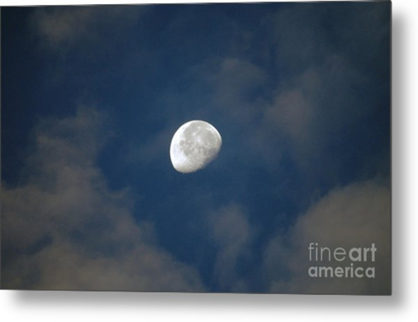 Moon Over Philadelphia Metal Print