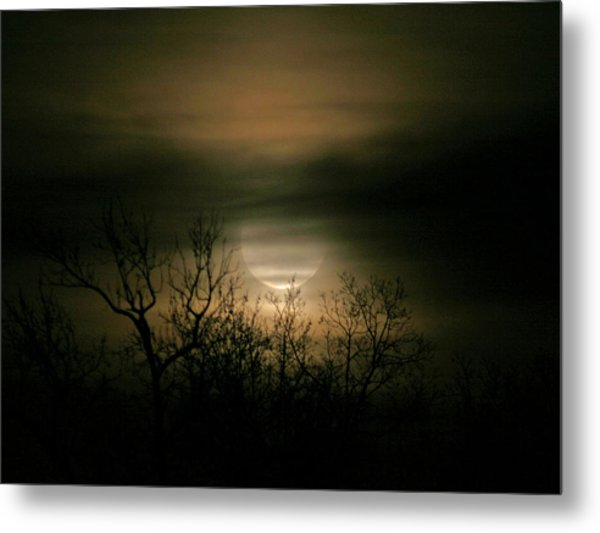 Moon Over Prince George Metal Print