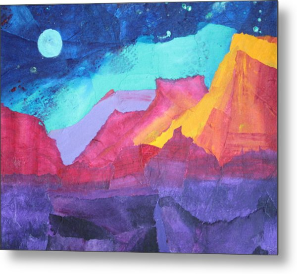 Moon Over Sedona Metal Print