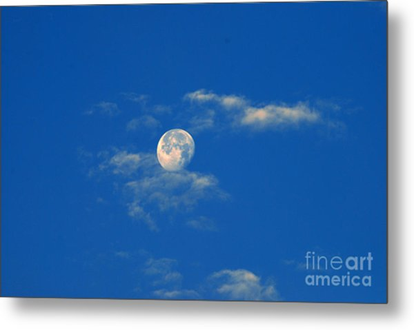 Moon Over Washington Dc Metal Print