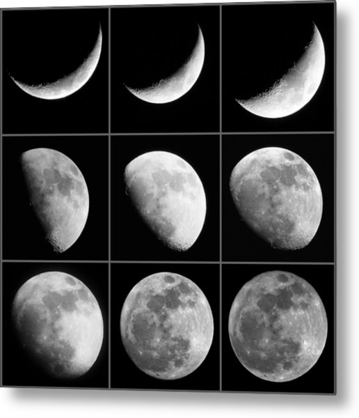 Moon Progression Metal Print
