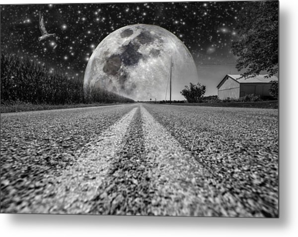 Moon Rise Country  Metal Print