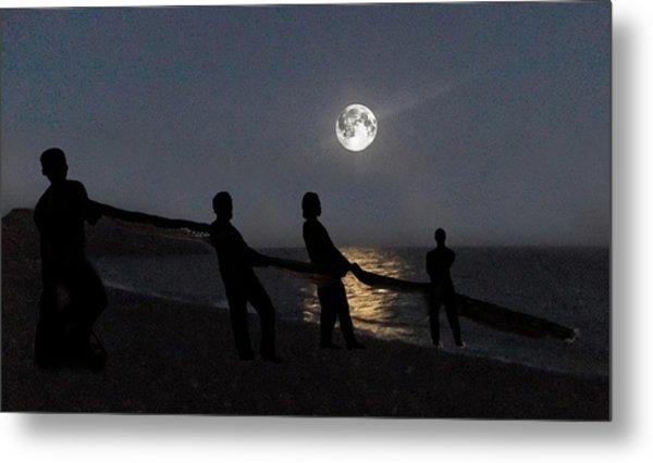 Metal Print featuring the digital art Moon Shadows  by Eric Kempson