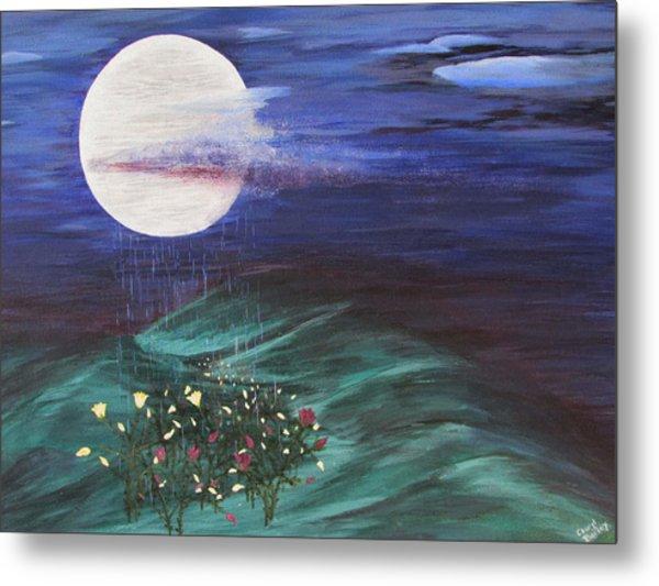 Moon Showers Metal Print