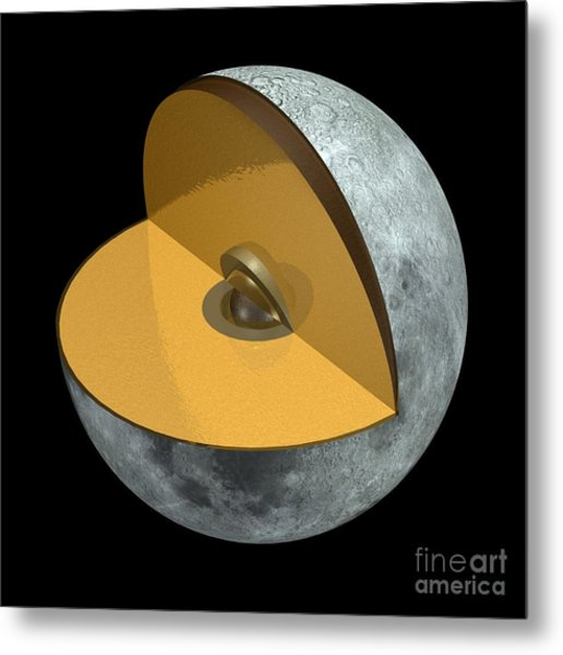 Moon Structure, Artwork Metal Print by Carlos Clarivan