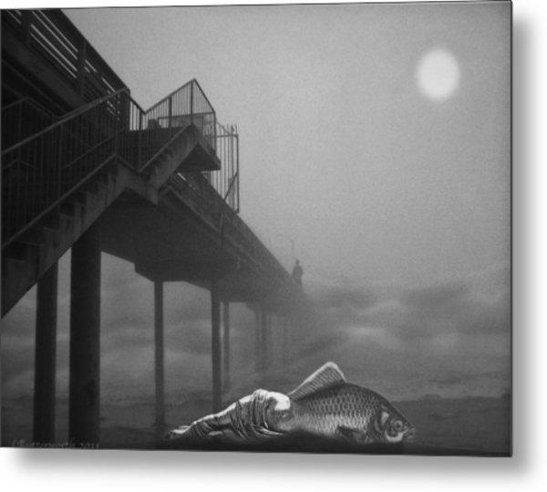Moonlight Beach Metal Print by Larry Butterworth