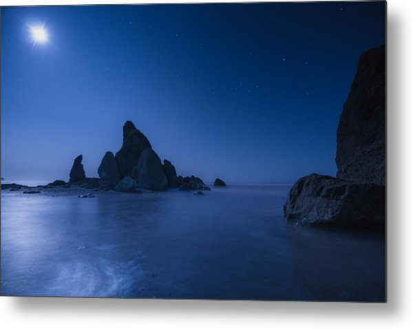 Moonlight Blue Metal Print