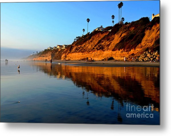 Moonlight Cliffs Metal Print