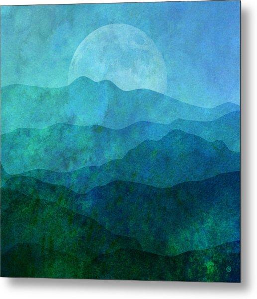 Moonlight Hills Metal Print