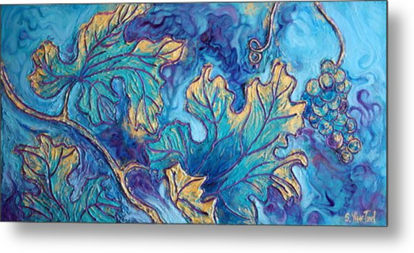 Moonlight On The Vine Metal Print