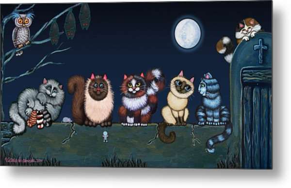 Moonlight On The Wall Metal Print