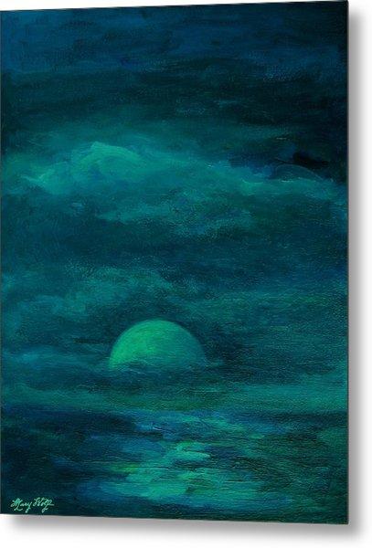 Moonlight On The Water Metal Print