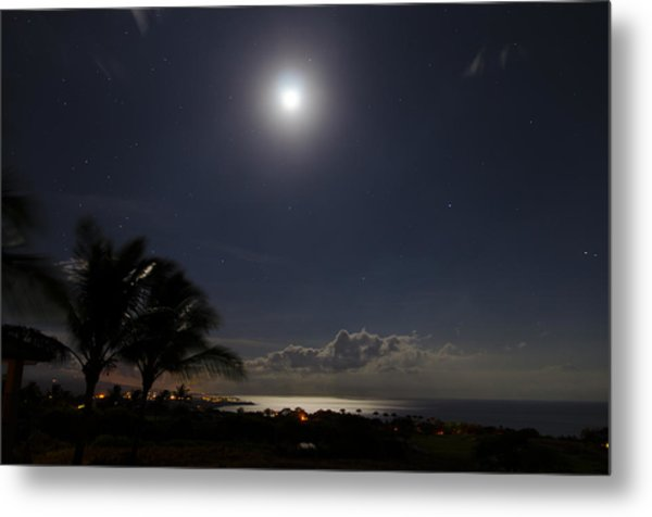 Moonlit Bay Metal Print