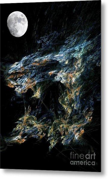 Moonlit Gold Nuggets Metal Print