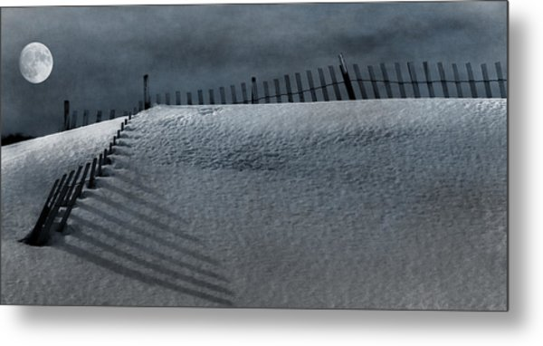 Moonlit Snow Metal Print