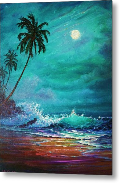 Moonlite Serenade Metal Print by Joseph   Ruff