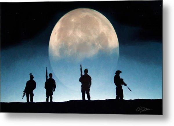 Moonrise Mission Metal Print