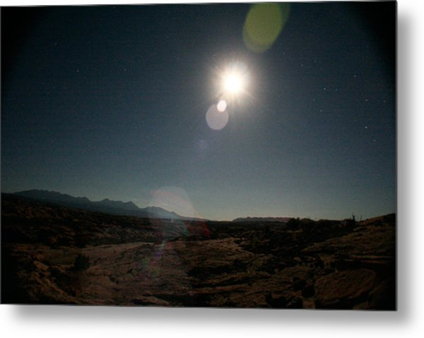 Moonrise Over Arches Metal Print