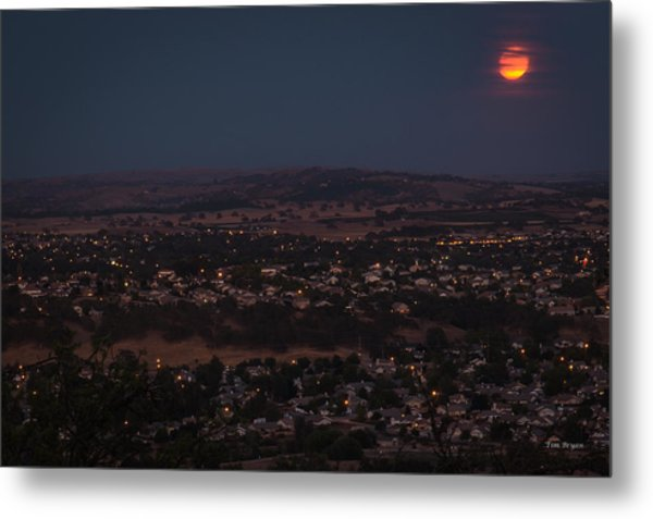 Moonrise Over Paso Metal Print