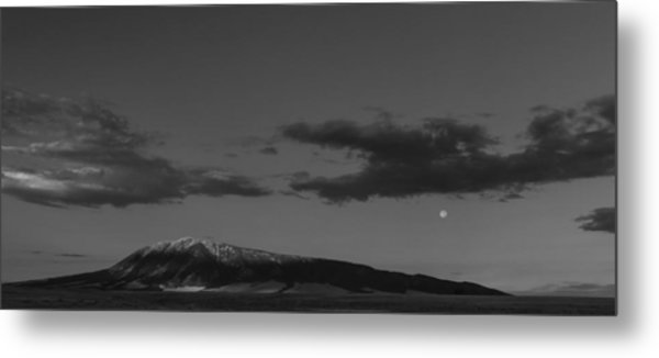 Moonset And Sunrise Metal Print