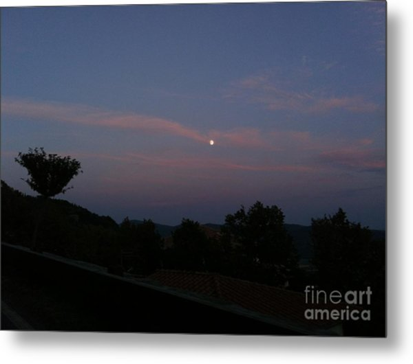 Moonshine In Cortona Metal Print