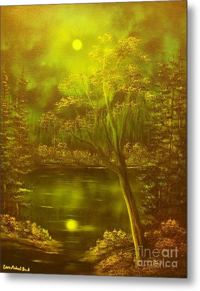 Moony Waters- Original Sold - Buy Giclee Print Nr 37 Of Limited Edition Of 40 Prints Mited Edprints  Metal Print