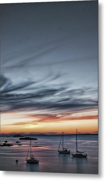 Moored Metal Print
