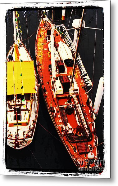 Moored Yachts Metal Print