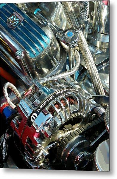 Mopar In Chrome Metal Print