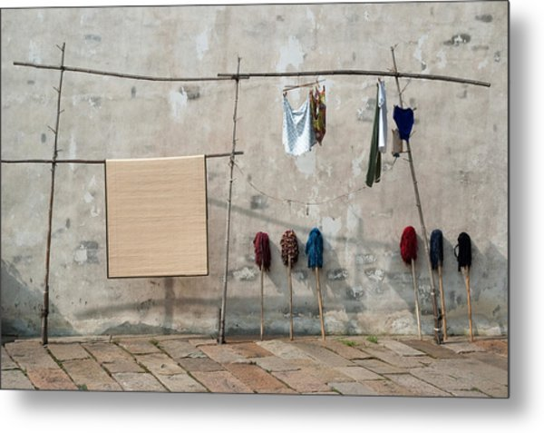 Mops And Laundry 2  Wuzhen China Metal Print