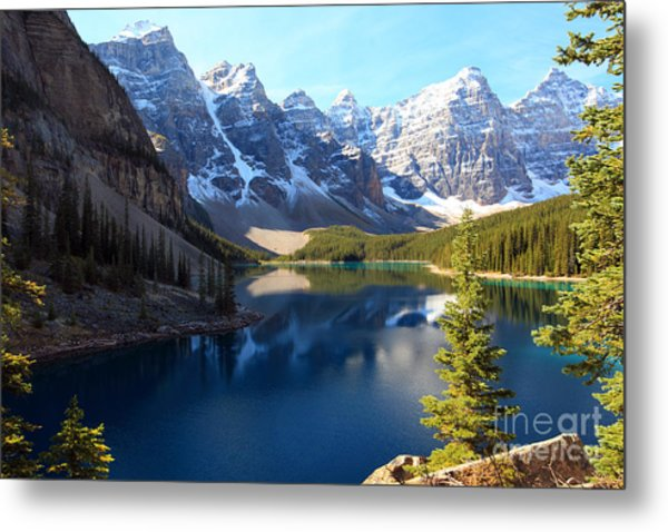 Moraine Lake Banff Alberta Metal Print
