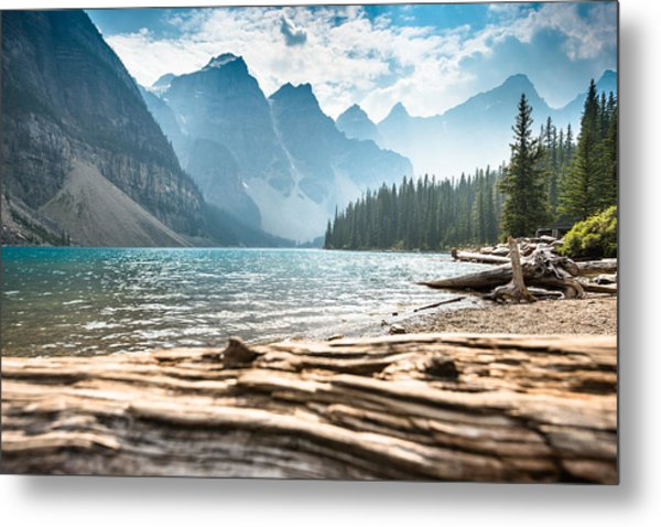 Moraine Lake In Banff National Park - Canada Metal Print by Franckreporter