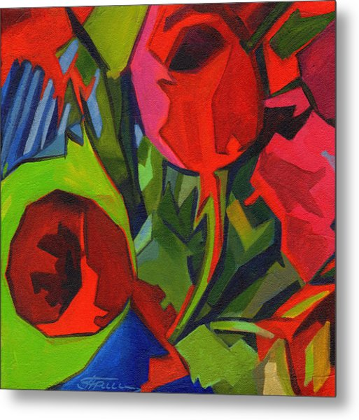 More Red Tulips  Metal Print