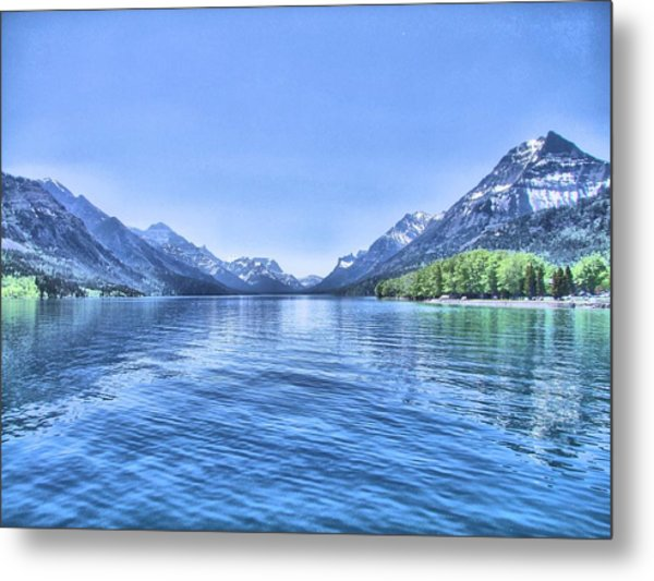 More Shades Of Blue Metal Print