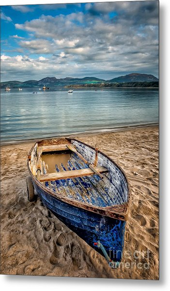 Metal Print featuring the photograph Morfa Nefyn Boat by Adrian Evans