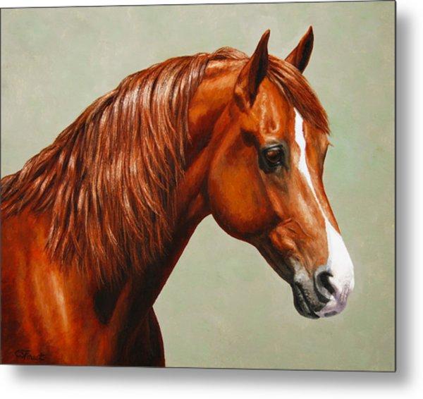 Morgan Horse - Flame Metal Print