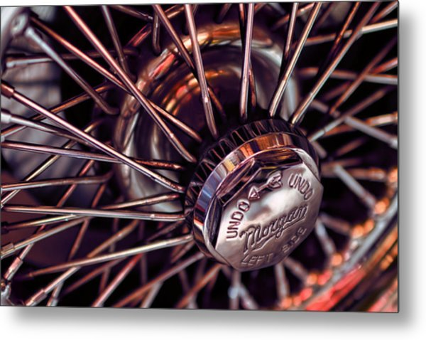 Morgan Wire Wheel Metal Print
