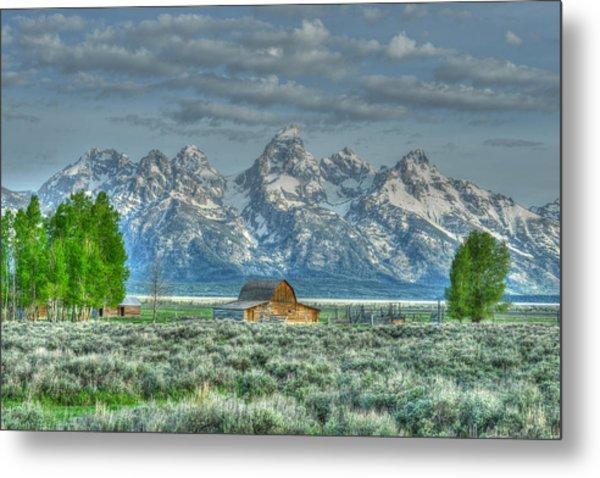 Mormon Barn Spring Metal Print