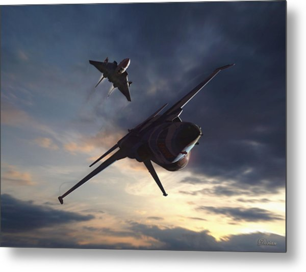 Morning Aerobatics Metal Print