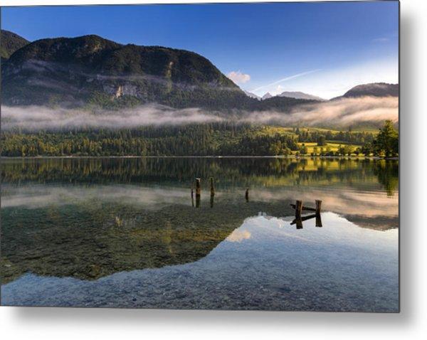 Morning At Lake Bohinj Metal Print
