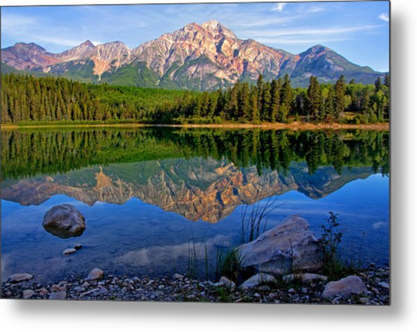 Morning At Pyramid Lake Metal Print