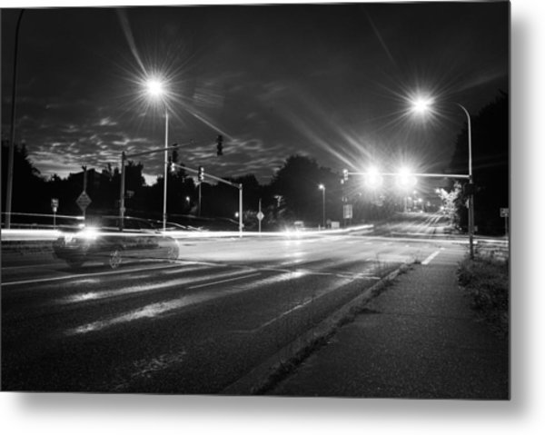 Morning At The Intersection Metal Print