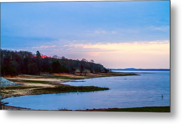 Morning At The Lake - Landscape Metal Print by Barry Jones