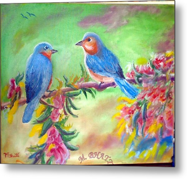 Morning Birds Metal Print by M Bhatt