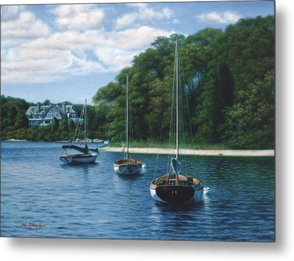 Morning Blue - Cape Cod Metal Print by Julia O'Malley-Keyes