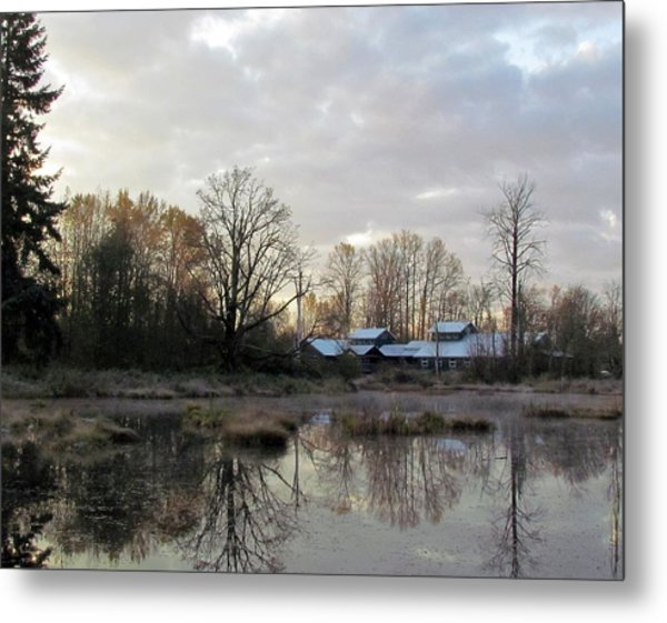 Morning Breaking Metal Print