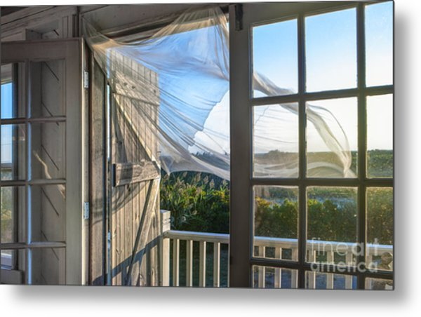 Morning Breeze At The Beach House Metal Print