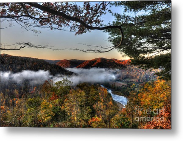 Morning Cheat River Valley Metal Print