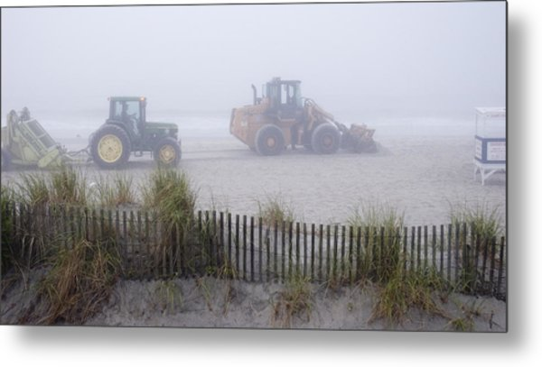 Morning Cleanup Metal Print